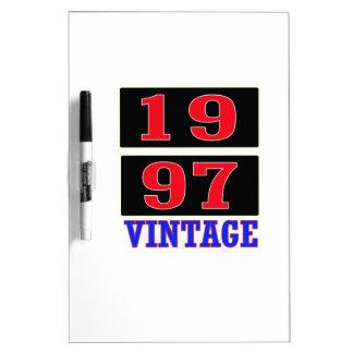 Vintage 1997 tablero blanco