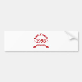 Vintage 1998 Aged to Paerfection Car Bumper Sticker