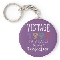 vintage 1999 years to perfection keychain