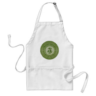 Vintage 19th Century Engraving of Numeral 5 Five Adult Apron