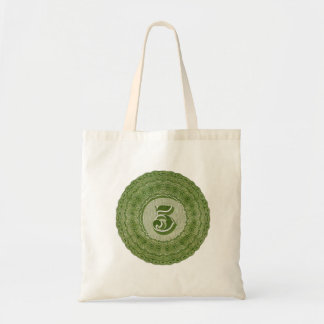 Vintage 19th Century Engraving of Numeral 5 Five Tote Bag