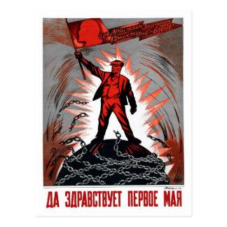 Vintage 1 de mayo ruso Lenin socialista relacionad Tarjetas Postales