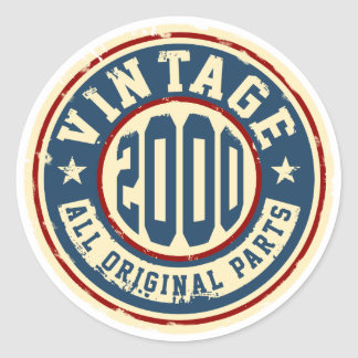 Vintage 2000 All Original Parts Classic Round Sticker