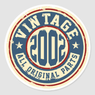 Vintage 2002 All Original Parts Classic Round Sticker