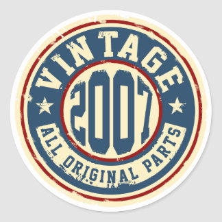Vintage 2007 All Original Parts Classic Round Sticker