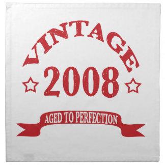 Vintage 2008 envejecido a Paerfection Servilletas Imprimidas