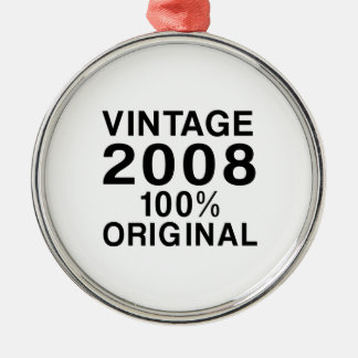 Vintage 2008 metal ornament