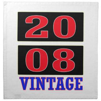 Vintage 2008 servilletas