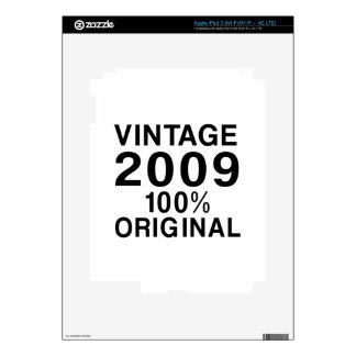 Vintage 2009 decal for iPad 3