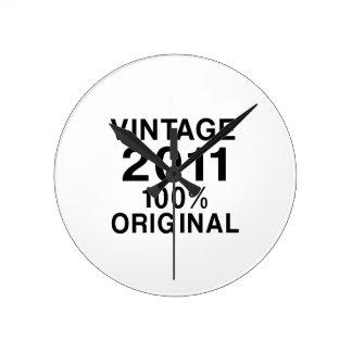 Vintage 2011 round clock