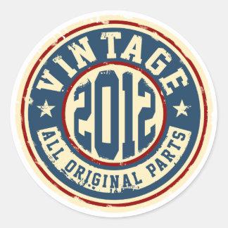 Vintage 2012 All Original Parts Classic Round Sticker