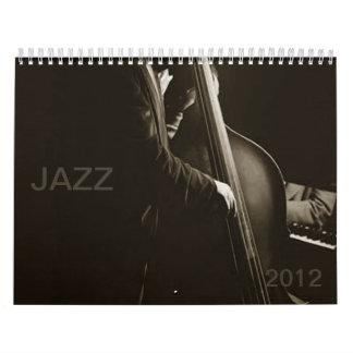 Vintage 2012 de las impresiones de la música de calendarios de pared