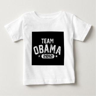 vintage 2012 de obama del equipo playera de bebé