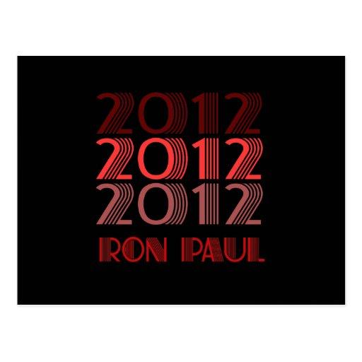 VINTAGE 2012 DE RON PAUL TARJETA POSTAL
