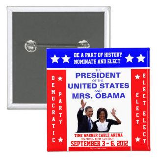 Vintage 2012 DNC Convention OBAMA political pinbac 2 Inch Square Button