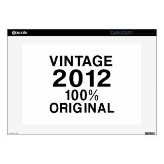 Vintage 2012 portátil skins