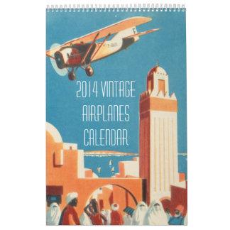 Vintage 2014 Airplanes Calendar