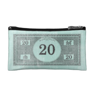 Vintage 20 Dollar Bill Cosmetic Bag