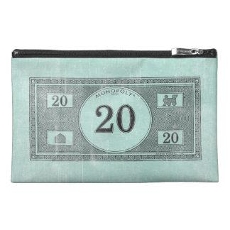 Vintage 20 Dollar Bill Travel Accessories Bag