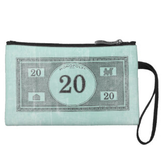 Vintage 20 Dollar Bill Wristlet