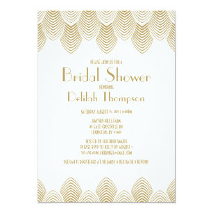 Art deco bridal shower invitations zazzle vintage 20s art deco bridal shower invitation filmwisefo