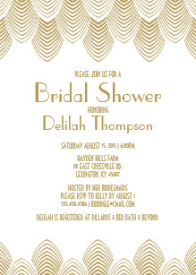 Art deco bridal shower invitations announcements zazzle vintage 20s art deco bridal shower invitation filmwisefo Gallery