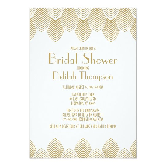 Vintage 20s art deco bridal shower invitation zazzle vintage 20s art deco bridal shower invitation filmwisefo