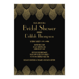Art deco bridal shower invitations announcements zazzle vintage 20s art deco bridal shower invitation filmwisefo