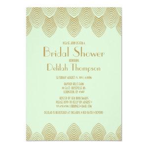 Vintage 20's Art Deco Bridal Shower Invitation 5