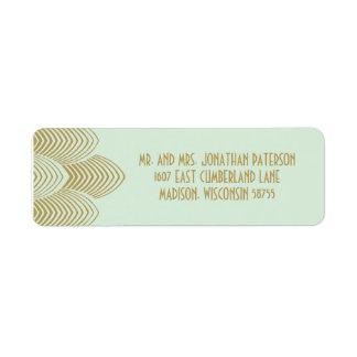Vintage 20's Art Deco Scalloped Wedding Label