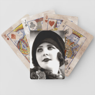 Vintage 20's Lady Playing Cards