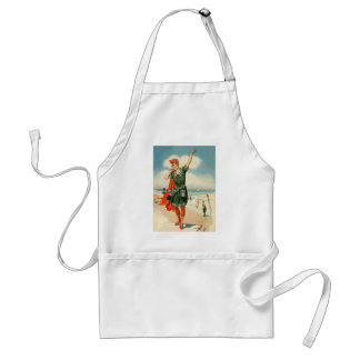 Vintage 20s Swimsuit Beach Pin Up Girl Adult Apron
