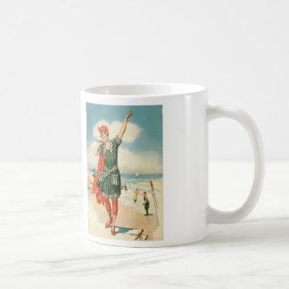 Vintage 20s Swimsuit Beach Pin Up Girl Coffee Mug