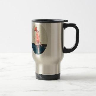 Vintage 20s Swimsuit Pin Up Beach Girl Travel Mug