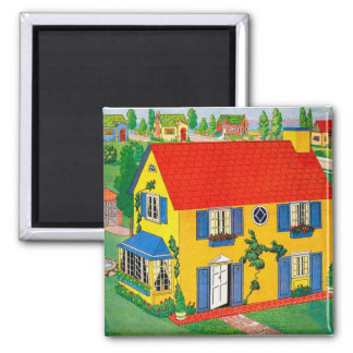 Vintage 20s Toy House Doll House Illustration Magnet