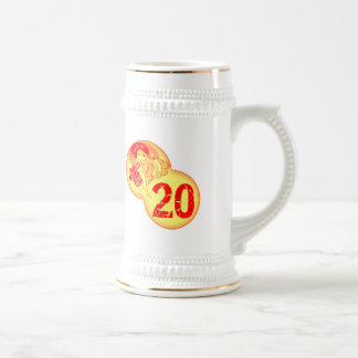 Vintage 20th Birthday Gifts Beer Stein