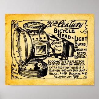 Vintage 20th Century Bicycle Headlight Print
