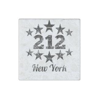 Vintage 212 New York Stone Magnet