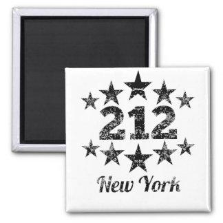 Vintage 212 New York 2 Inch Square Magnet