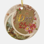 Vintage 25 de diciembre ornamento para reyes magos