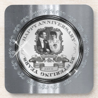 Vintage 25th Anniversary ID195 Coaster