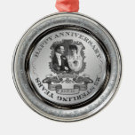 Vintage 25th Anniversary ID195 Metal Ornament