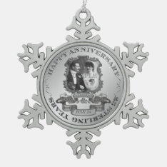 Vintage 25th Anniversary Id195 Snowflake Pewter Christmas Ornament at Zazzle
