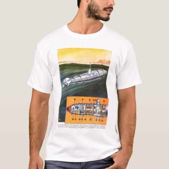 Vintage 30s German Nazi Fantasy Uboat Submarine T-Shirt