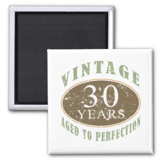 Vintage 30th Birthday 2 Inch Square Magnet