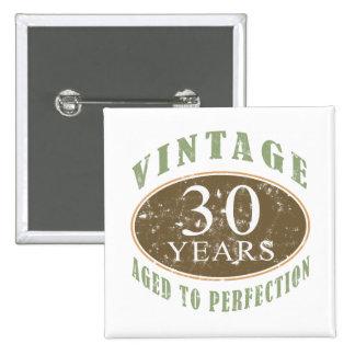 Vintage 30th Birthday Button