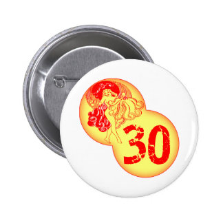 Vintage 30th Birthday Gifts Button