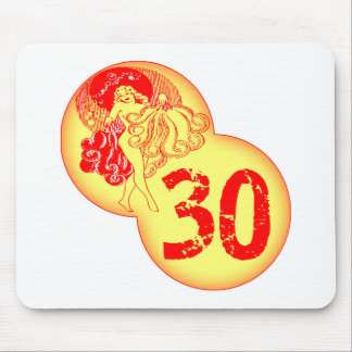 Vintage 30th Birthday Gifts Mousepads