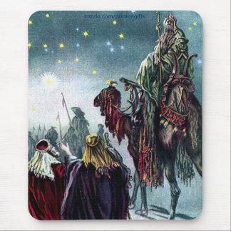 Vintage 3 Kings & Star of Bethlehem Mouse Pad