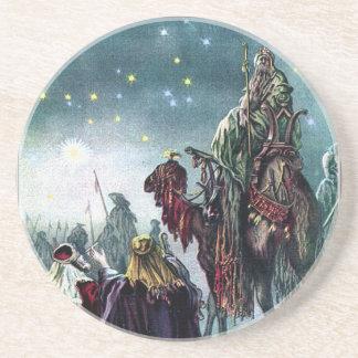 Vintage 3 Wise Men & Star of David Xmas Coaster